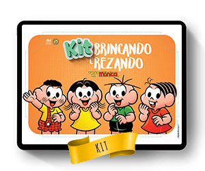 Kit gratuito para a criançada: Brincando e Rezando - Turma da Mônica